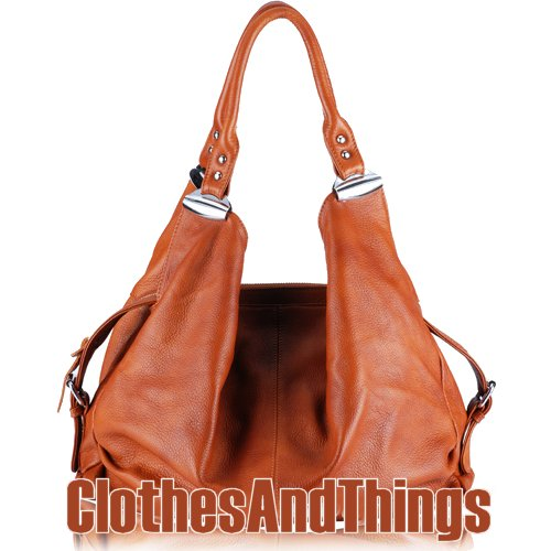 JESSIE Slouch Hobo Handbag - Caramel Tan Leather