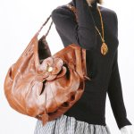 MONICA Boho Chic Leather Handbag Tote