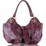 ROXANNE Vintage Leather Hobo Tote Handbag