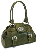 Procida Italian Leather Handbag - Green
