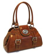 Procida Italian Leather Handbag - Olive