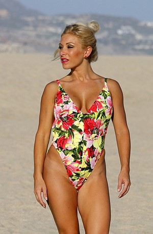 CARINA Floral High Cut Leg One Piece Swimsuit