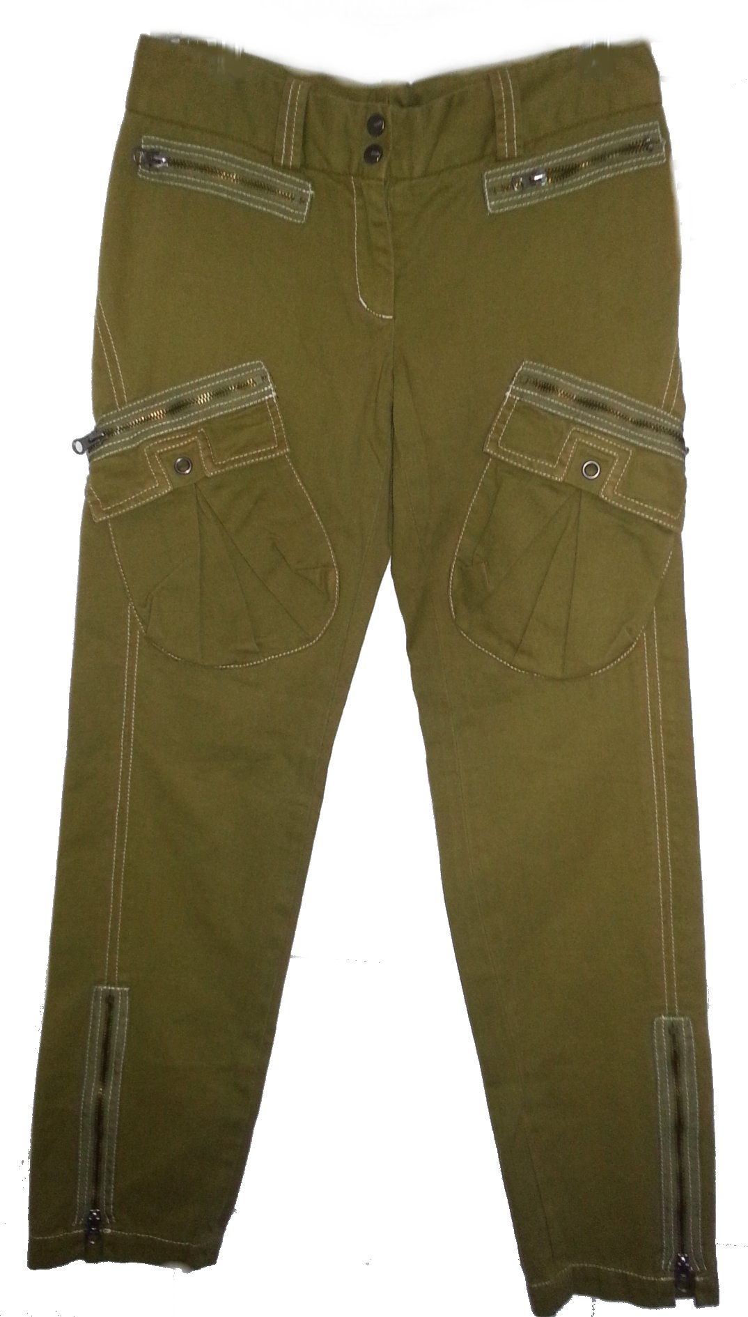 BCBG Max Azria Military Inspired Skinny Ankle Pants - 2