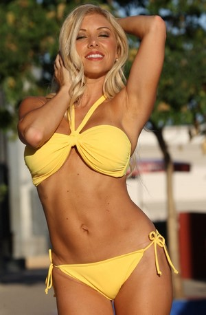 JENNIE Sunshine Yellow Bandeau Bikini