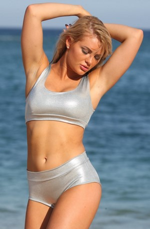 1481b6d63c5 Ujena LILY Silver Metallic Full Coverage Bikini. Previous, 1 of 2, Next